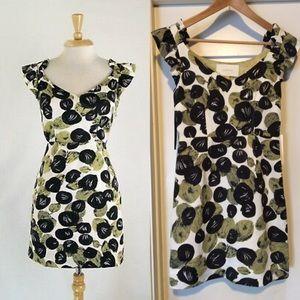 Anthropologie Leifsdottir Silk Blend Leaf Dress
